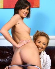 Teagan and Kiera Handjob